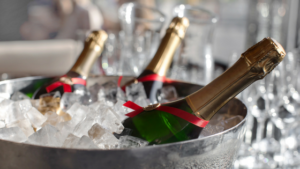 Chill your champange quickly for New Year's Eve
